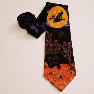 Vintage Halloween Neck Tie by Addiction Pumpkins
